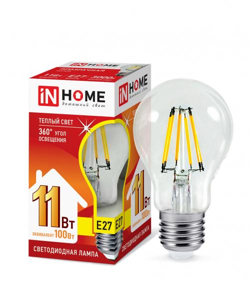 Лампа светодиодная LED-A60-deco 11Вт 3000К/4000K/6500K Е27